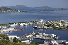 Scenic view of Alesund, Norway Stock Photos