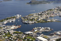 Scenic view of Alesund, Norway Royalty Free Stock Photos