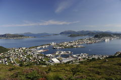 Scenic view of Alesund, Norway Royalty Free Stock Photo