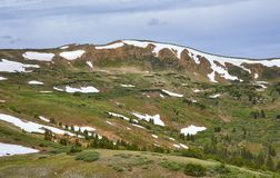 Loveland Pass, Colorado. Scenic view of the alpine landscape at Loveland Pass near Silverthorne, Colorado stock photos