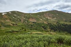 Loveland Pass, Colorado. Scenic view of the alpine landscape at Loveland Pass near Silverthorne, Colorado royalty free stock images