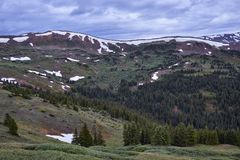 Loveland Pass, Colorado. Scenic view of the alpine landscape at Loveland Pass near Silverthorne, Colorado royalty free stock photo