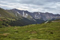 Loveland Pass, Colorado. Scenic view of the alpine landscape at Loveland Pass near Silverthorne, Colorado stock image