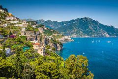 Scenic view of Amalfi Coast, Campania, Italy royalty free stock photography