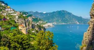 Scenic view of Amalfi Coast, Campania, Italy Royalty Free Stock Photography