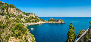 Scenic view of Amalfi Coast, Campania, Italy royalty free stock photos