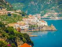 Scenic view of Amalfi Coast, Campania, Italy royalty free stock images