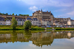 Scenic view of Amboise castle. Closeup scenic photography of Amboise castle in France Stock Image