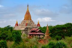Scenic view of Ananda temple in old Bagan area, Myanmar Royalty Free Stock Photo