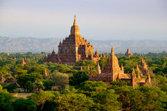 Scenic view of antient Sulamani temple at sunrise, Bagan, Myanma Royalty Free Stock Photo