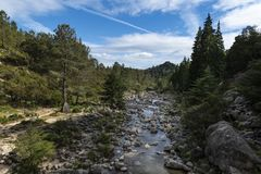 Scenic view of the Arado River at the Peneda Geres National Park in northern Portugal. Europe stock images