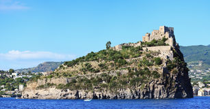 Scenic view of old castle, Ischia island (Italy) Royalty Free Stock Photo