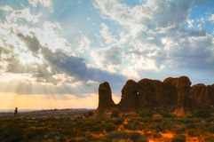 Scenic view at the Arches National Park, Utah, USA Stock Images
