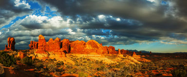 Scenic view at the Arches National Park, Utah, USA Royalty Free Stock Images