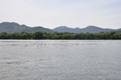 Scenic view area of the famous West Lake from Hangzhou. Beautiful scenic view area from the West Lake in Hangzhou on 3rd may 2018 royalty free stock images
