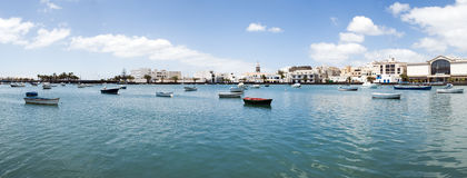 Scenic view of Arrecife lagoon Royalty Free Stock Images