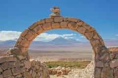 A scenic view of the Atacama desert / volcano Licancabur. A scenic view of the Atacama desert / Chile / Landscape Royalty Free Stock Photos