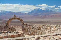 A scenic view of the Atacama desert / volcano Licancabur. A scenic view of the Atacama desert / Chile / Landscape Stock Images