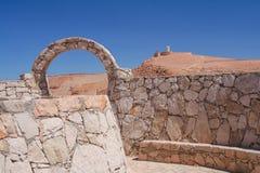 A scenic view of the Atacama desert / volcano Licancabur Stock Photos