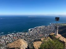 Atlantic Seaboard from Lion`s Head, South Africa royalty free stock image