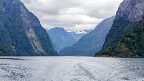 Scenic view of Aurlandsfjord, Norway Stock Photos