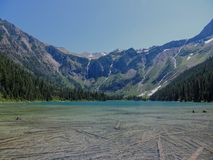 Scenic view of Avalanche Lake and glaciers in Glacier National Park Montana USA Stock Photos