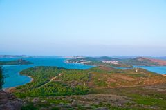 Scenic view of Ayvalik Royalty Free Stock Photos