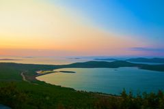 Scenic view of Ayvalik Stock Photo