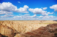 Scenic view at Badlands National Park, South Dakota, USA. On acloudy day royalty free stock image