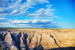 Scenic view at Badlands National Park, South Dakota, USA. On acloudy day Royalty Free Stock Photography