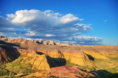 Scenic view at Badlands National Park, South Dakota, USA. On acloudy day stock image