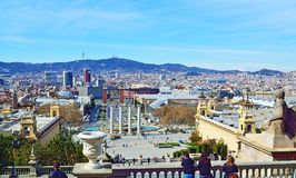Scenic view of Barcelona Catalonia Royalty Free Stock Images