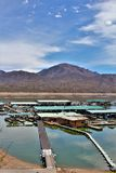 Bartlett Lake reservoir, Maricopa County, State of Arizona, United States scenic landscape view. Scenic view of Bartlett Lake marina surrounding landscape royalty free stock photography