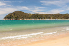 Scenic view of the beach in the New Zealand coast- Landscape Stock Photography