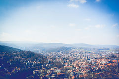 Scenic view of beautiful german village in Harz Royalty Free Stock Images