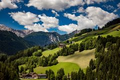 Scenic view of the beautiful landscape in the Alps stock images
