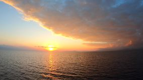 Scenic view of beautiful morning horizon over the sea, water stock video footage