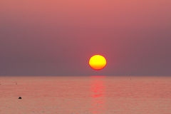 Scenic view of beautiful sunrise above the adriatic sea Stock Image