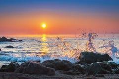 Scenic view of beautiful sunrise. Scenic view of beautiful sunrise above the sea Stock Photography