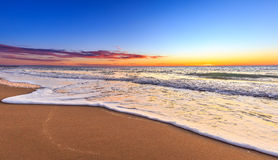 Scenic view of beautiful sunrise above the sea Stock Images