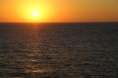 Scenic view of beautiful sunset above the Mediterranean sea Stock Photo