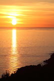 Beautiful sunset above the sea Royalty Free Stock Photography