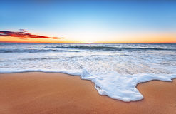 Scenic view of beautiful sunset. Scenic view of beautiful sunset above the sea Royalty Free Stock Photography