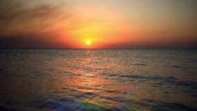 Scenic view of beautiful sunset above the sea. HD. 1920x1080 stock video footage