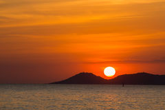 Scenic view of beautiful sunset above the sea Stock Images