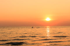 Scenic view of beautiful sunset above the sea Royalty Free Stock Images