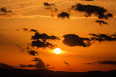 Scenic view of a beautiful sunset Royalty Free Stock Image