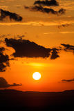 Scenic view of a beautiful sunset Stock Photography