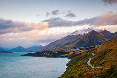 Scenic view from Bennetts bluff viewpoint, near Glenorchy, New Zealand Royalty Free Stock Photography