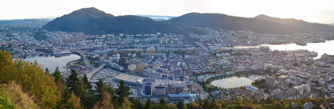The sunset in Bergen Stock Images